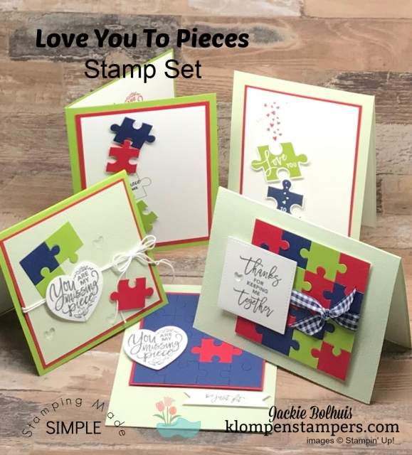 5 Greeting Cards Made by Jackie Bolhuis with Klompen Stampers