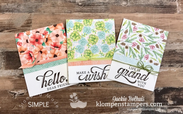 DIY Card Making All Occasions Cards made with Stampin Up Painted Seasons Bundle