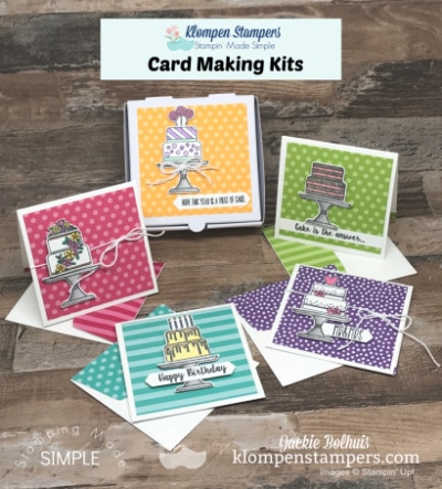 Birthday Card Making Kit | Piece of Cake by Stampin' Up!