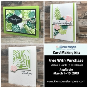 3 Card Design Ideas using Stampin Up Tropical Chic Bundle
