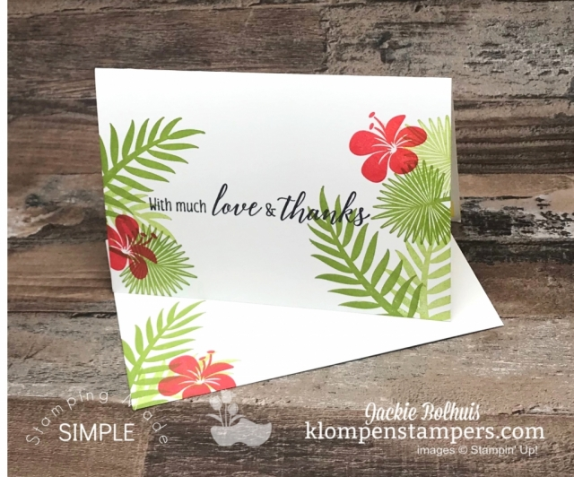 Tropical-Floral-Thank-You-Card-with-Green-Palm-Leaves-and-Red-Tropical-Flowers