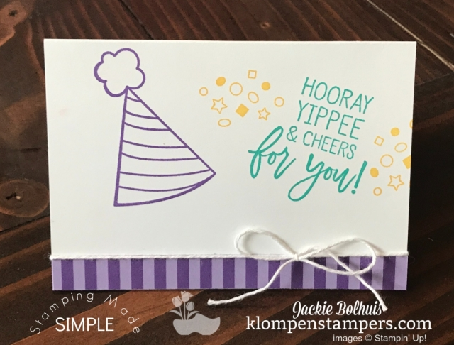 Simple Stamping Birthday Card in Purple