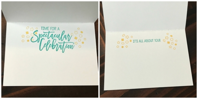 Simple Stamping Birthday Greetings for the Inside of the Cards