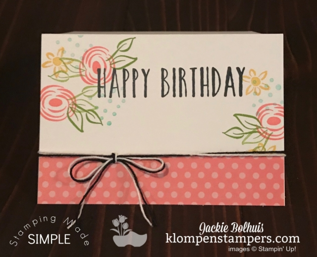 Birthday Card Handmade with Stampin Up Perennial Birthday