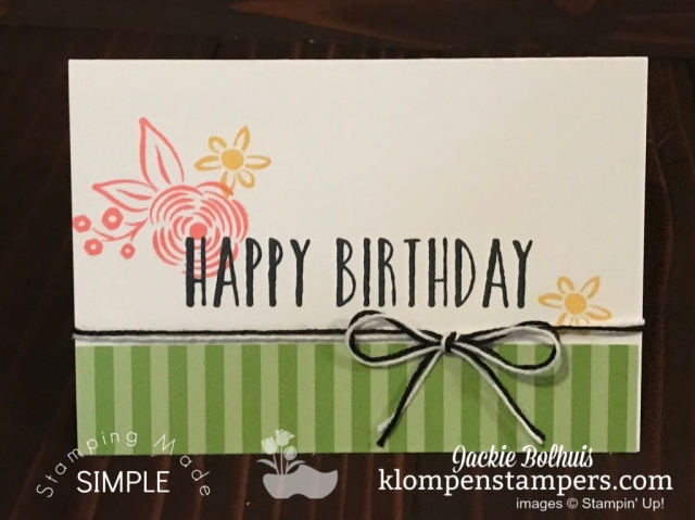 SIP Style Stamping Just Stamps Ink and Paper for Birthday Card
