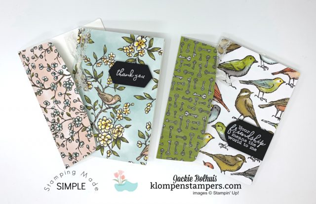 Handmade-Notecards-Made-With-Stampin-Up-Bird-Ballad-Designer-Paper