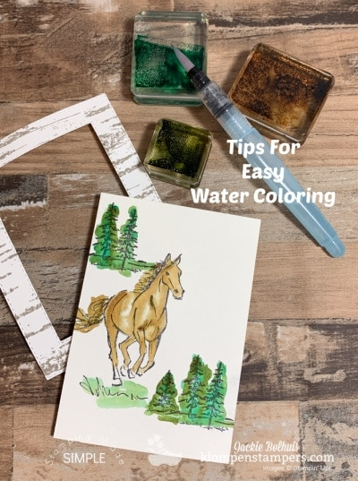 Watercolor Method You Can Conquer Quickly for an Easy Handmade Card