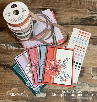 5 Charming Greeting Cards with 1 Card Design Idea | Stampin' Up! To A Wild Rose