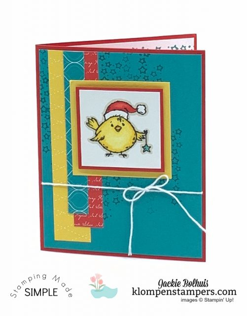 Coloring-Adorable-Greeting-Cards-Handmade-Christmas-Card-Bird-in-Santa-Hat