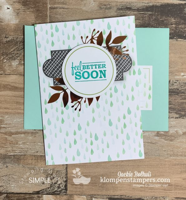 Versatile-Cards-Feel-Better-Soon-Card-in-Light-Green-with-Matching-Envelope