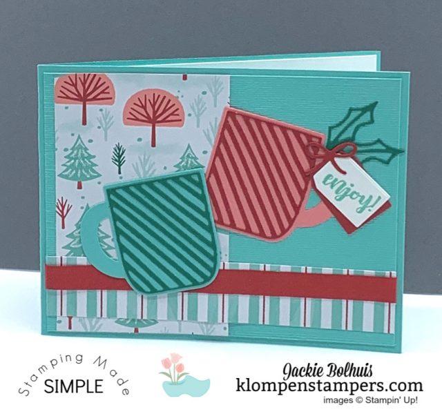 Easy-DIY-Christmas-Card-Handmade-with-Pink-and-Green-Mugs