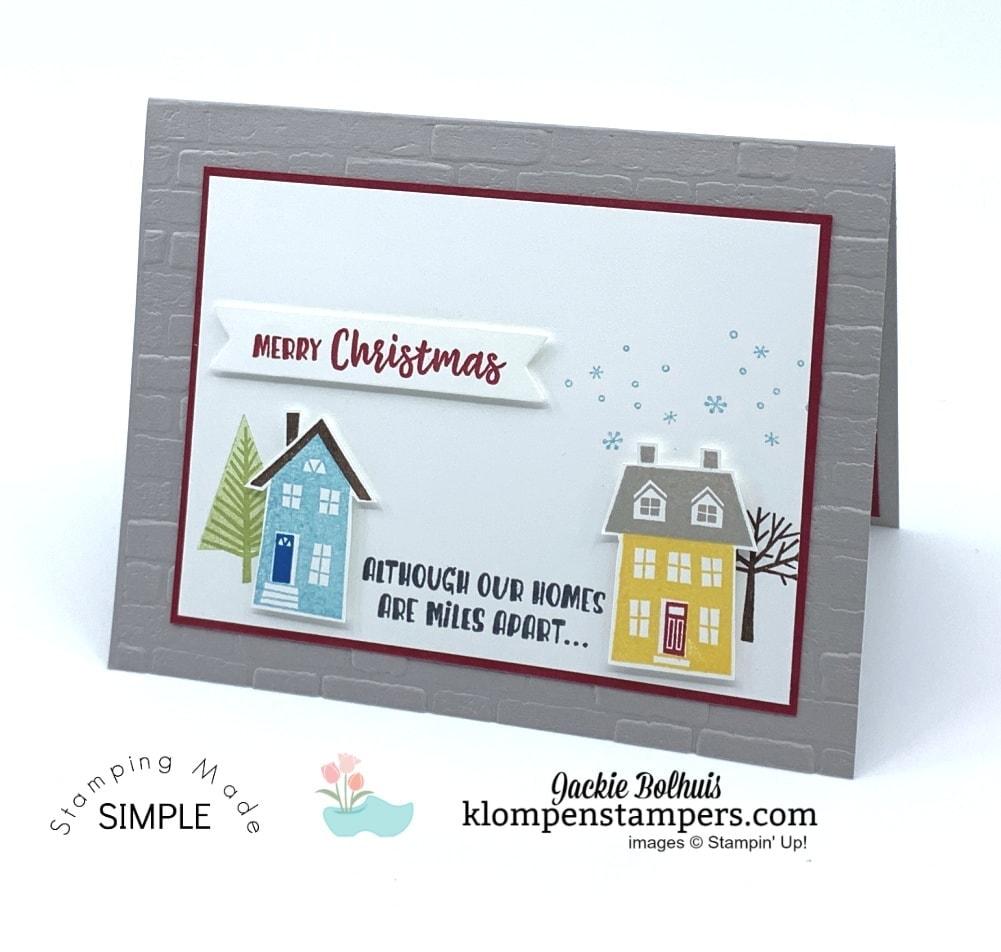 Merry Christmas Handmade Card Across the Miles