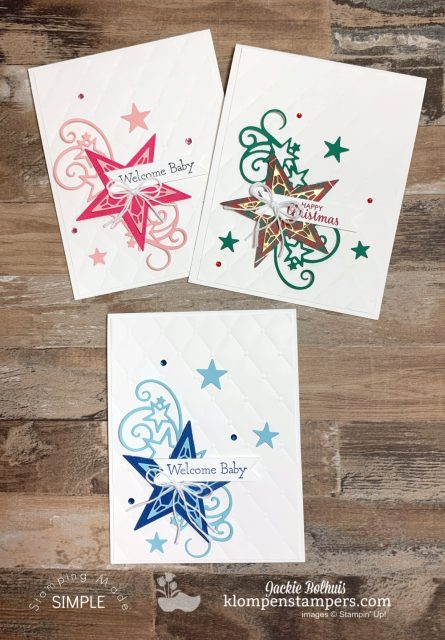 Adorable-Baby-Cards-Handmade-with-Bonus-Star-Christmas-Card-Handmade
