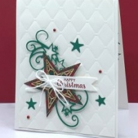 Handmade Christmas Card with Star