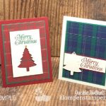Simple-christmas-card-making-with-pine-trees-and-plaid-paper