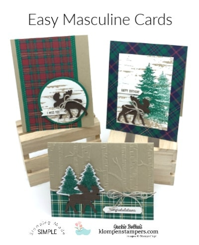 4 All Occasion Cards for Men Using 1 Awesome Stamp Set