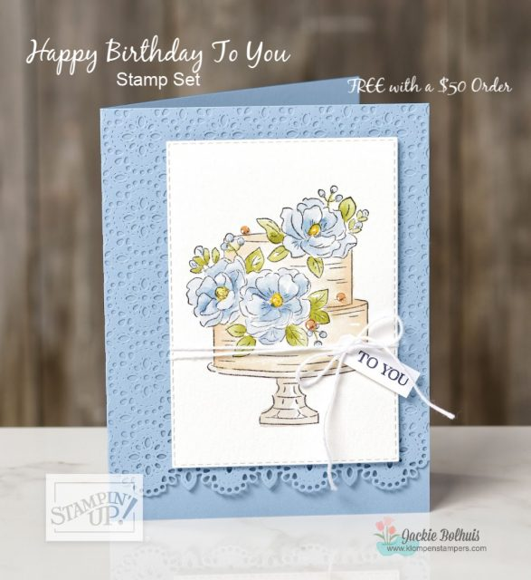 Sale-a-Bration-2020-Birthday-Card-Handmade-With-Cake-and-Flowers