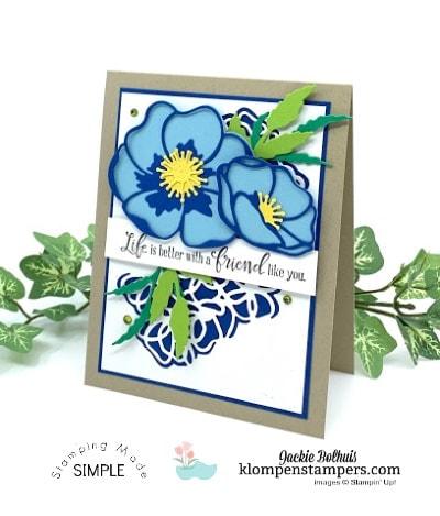 Beautiful Die Cut Layering on a Friendship Greeting Card