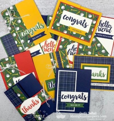 Fun Fold One Sheet Wonder   Perfect Cards For Men