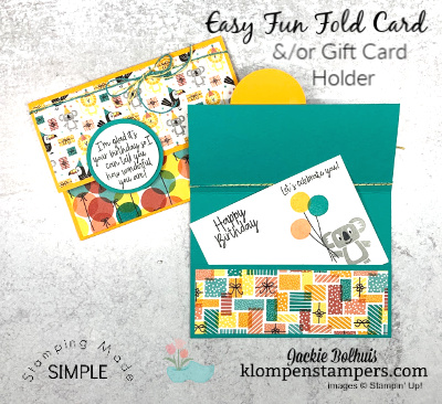 A Fun Fold Pocket Card That Can Double as a Gift