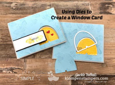 How to Make a Window Card Using Dies