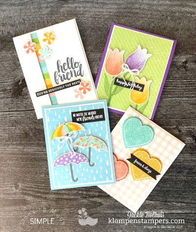Make Vibrant Quick Cards and Be Pleased as Punch!