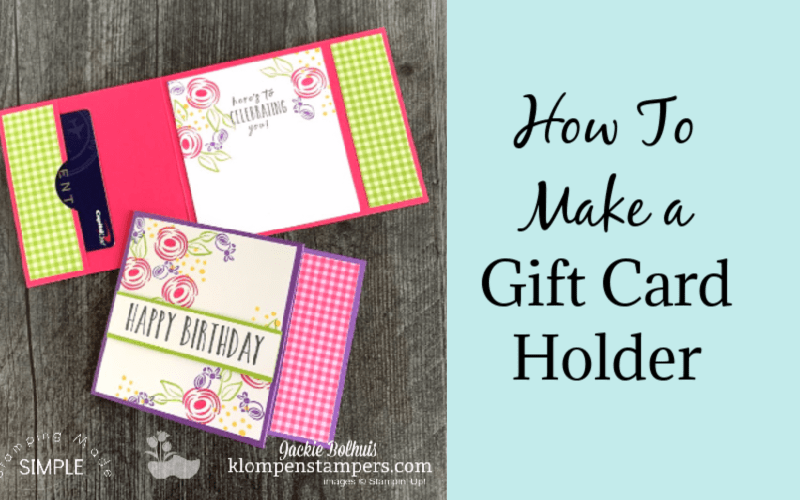 How to Make a Gift Card Holder the Easy Way