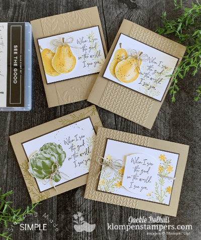See the Good! 3 Easy Cards with a Fun & Quick Sponging Technique